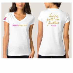 Dream Keepers White V Neck T Shirt