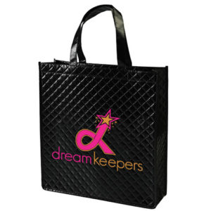 Dream Keepers Black Quilted Tote with our Logo
