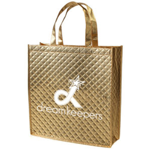 Dream Keepers Gold Quilted Tote with our Logo